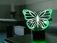 """Детский ночник """"Бабочка 2"""" 3DTOYSLAMP, фото 1"""