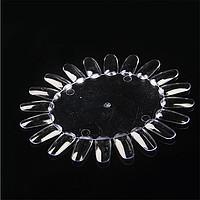 Палитра для лака круглая, дисплей-ромашка для лаков, гель-лаков (20 типс)