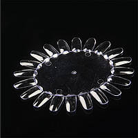 Палитра для лака круглая, дисплей-ромашка для лаков, гель-лаков (20 типс) , фото 1