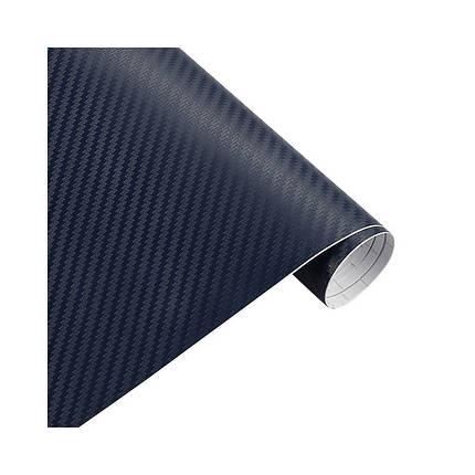 Карбонова плівка 3D рулон 30х150 см СИНЯ, фото 2
