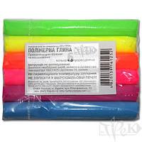 Набор полимерной глины 6 цветов ФЦ по 17г «Трек» Украина