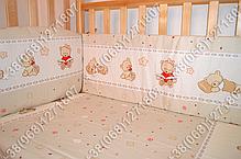"""Детское постельное белье в кроватку """"Карапуз"""" комплект 6 ед. (мишка игрушки бежевый), фото 3"""