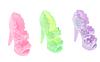 Босоніжки на підборах з квітковим візерунком, взуття для ляльки Барбі