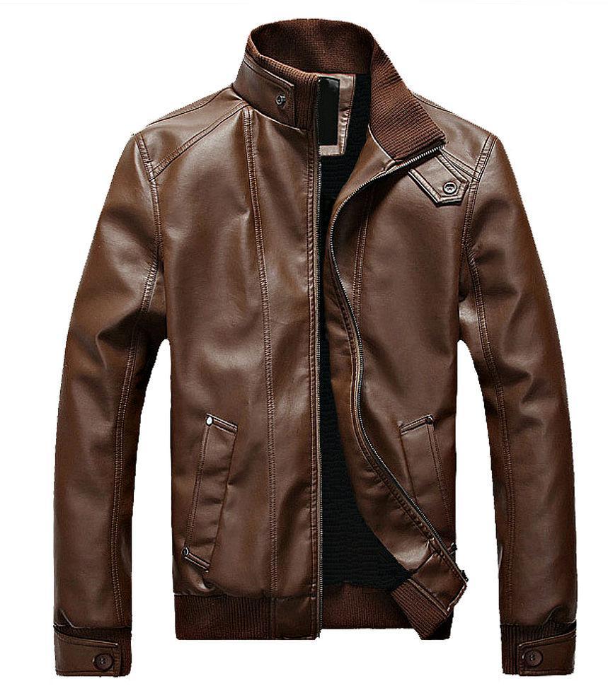 Меховая мужская кожаная куртка.