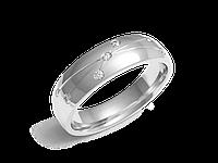 Кольцо обручальное Twin Set One белое золото с бриллиантом - № 220-0056