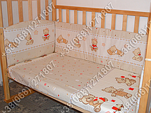 """Детское постельное белье в кроватку """"Карапуз"""" комплект 5 ед. (мишка игрушки бежевый), фото 3"""