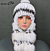 Меховые шапки-ушанки для женщин с натуральным мехом лисы