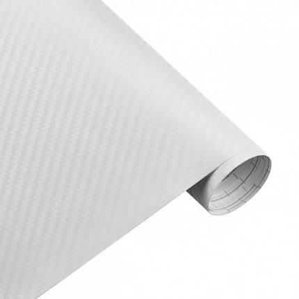 Карбонова плівка 3D рулон 10х150 см БІЛА, фото 2