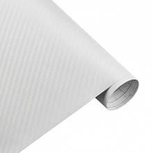 Карбонова плівка 3D рулон 40х150 см БІЛА