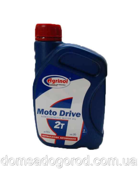 Масло Agrinol 2Т Moto Drive полусинтетическое 1 л