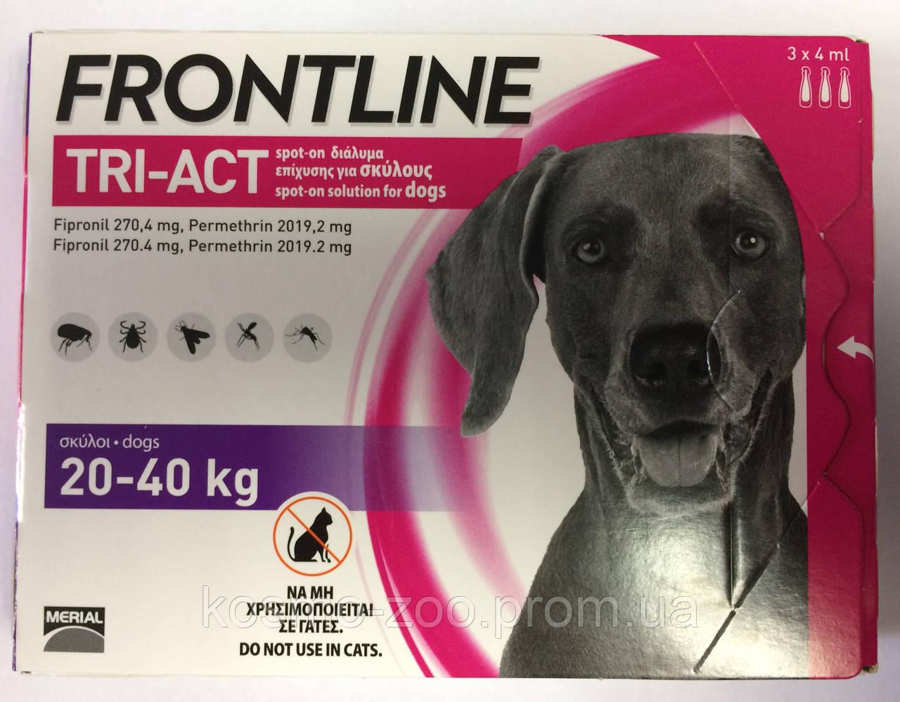 Frontline TRI-ACT (Фронтлайн) для собак, L (20-40кг)
