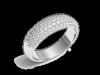 Кольцо обручальное Twin Set One белое золото с бриллиантом - № 220-0111