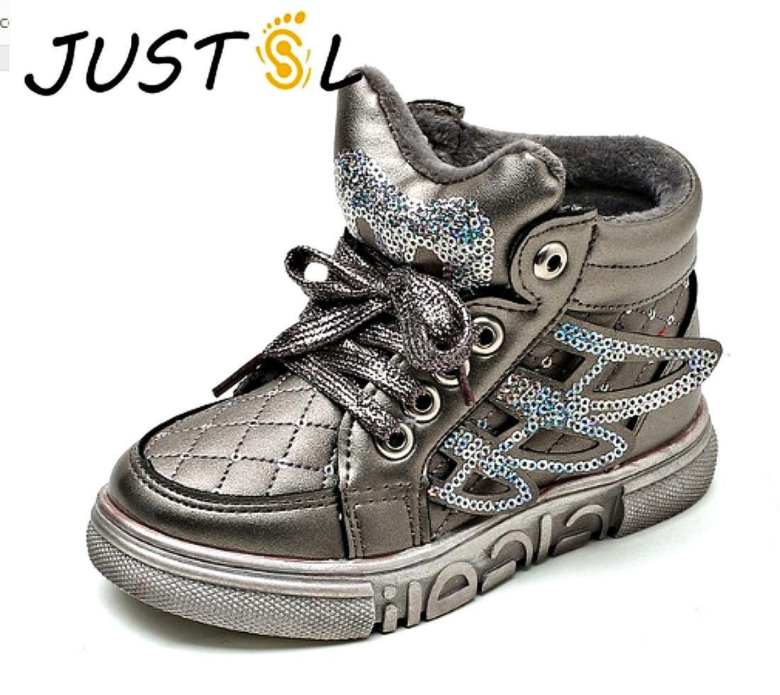 Модная, утепленная, зимняя детская обувь с блестками с утеплителем высокого качества для мальчиков и девочек.