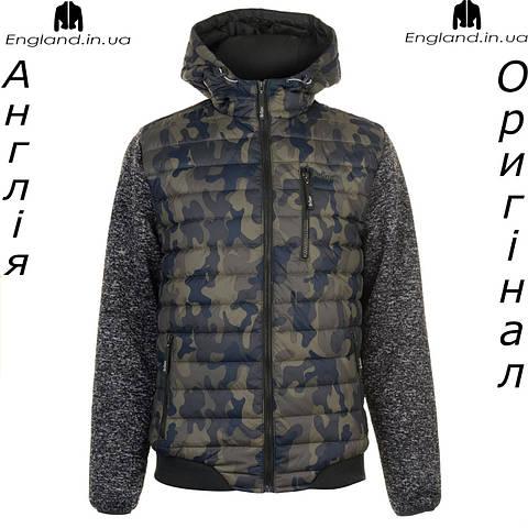 Куртка  Lee Cooper весняно-осенняя стеганая вязаные рукава камуфляжная