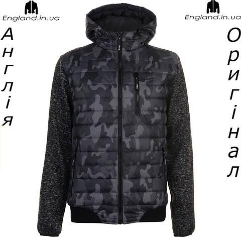 Куртка  Lee Cooper весняно-осенняя стеганая вязаные рукава камуфляжная   Куртка Lee Cooper весняно-осіння