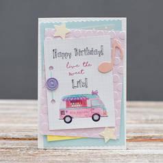 Открытка стандартная Happy Birthday Машина мороженого