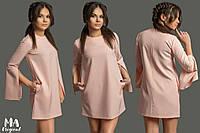 Платье-шифт из костюмной ткани
