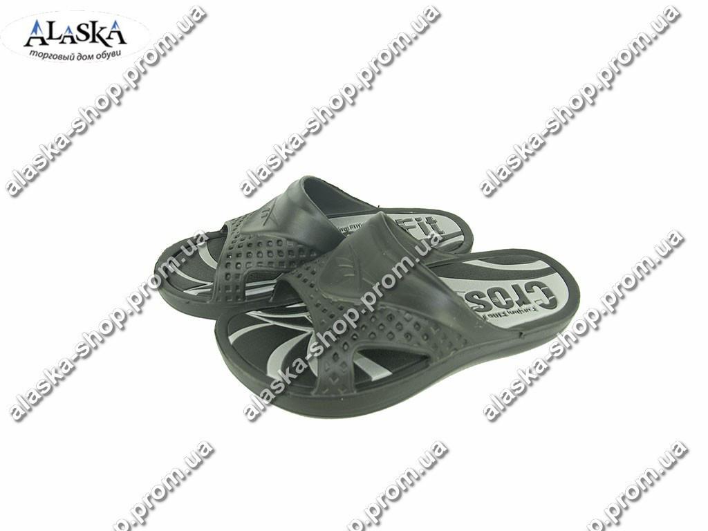 Мужские шлепанцы (Код: Даго 14011 черн/серый )