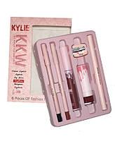 Набор для макияжа Kylie (Кайли) KKW 6в1 с точилкой, фото 1