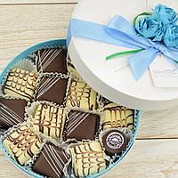 "Набор элитных шоколадных конфет ""Мелодия марципана"". Размер: Ø165х50мм, вес 280г"