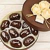 """Набор элитных шоколадных конфет """"Фрукты с орехом в шоколаде"""". Размер: Ø165х50мм, вес 380г"""