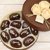 """Набор элитных шоколадных конфет """"Фрукты с орехом в шоколаде"""". Размер: Ø165х50мм, вес 380г, фото 1"""