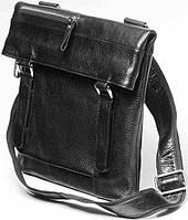 c8fa80cdbff2 Мужская Сумка-слинг Кожаная Vip Collection 1451-F Черная — в ...