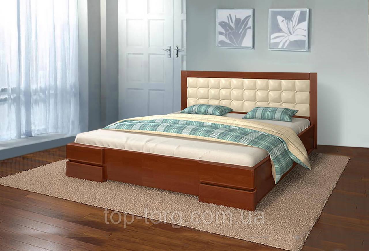 Кровать Вирджиния 1,6 (1600х2000мм) темный орех, деревянная