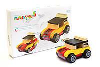 Бесплатная доставка. Детский деревянный конструктор Машина Мини-кабриолет с магнитами Cubika(Кубика) 12060.