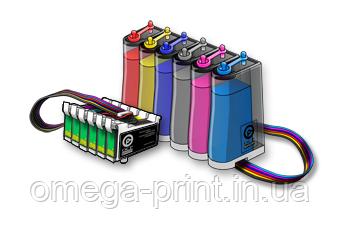 Установка системи неперервної подачі чорнил (СНПЧ) для плотерів HP