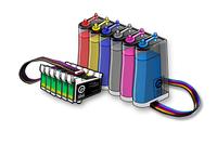 Установка системы непрерывной подачи чернил (СНПЧ) для плоттеров HP