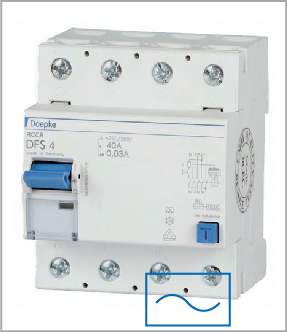 УЗО (дифреле) Doepke DFS4 040-4/0,03-AC, тип AC, ном.ток 40А, dp09134902