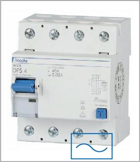 УЗО (дифреле) Doepke DFS4 025-4/0,10-AC, тип AC, ном.ток 25А, dp09125902