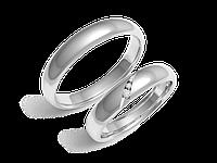 Кольца обручальные Серия Twin Set белое золото с бриллиантами - № 220-0106_200-0106