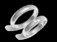 Кольца обручальные Серия Twin Set белое золото с бриллиантами - № 210-0127_200-0127