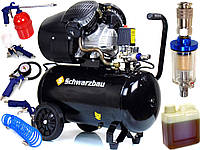 Масляный компрессор Schwarzbau ZBV 50L