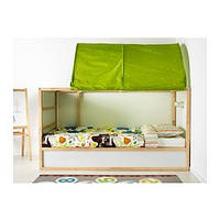 KURA Двусторонняя кровать, белый, сосна, фото 1