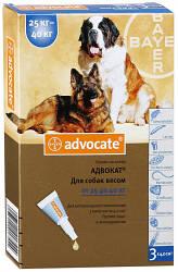 Bayer Advocate (Адвокат) капли от глистов и клещей для собак крупных пород весом 25-40кг. 1 шт.