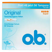 O.b. Original Tampons -Женские тампоны четыре капли