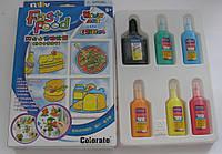 """Витражные краски с блестками набор для творчества 5 цв.+1 контур """"Colorato""""№ С-А18002Х\4"""