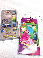 Набор цветных восковых мелков 12 цветов