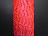Нить вощёная плоская 1 мм розовая (неоновая)