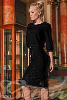 Черный костюм кофта/юбка