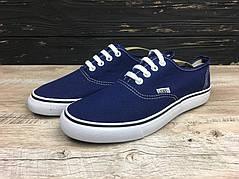 Стильные Кеды Ванс Vans Authentic 4 цвета в наличии Синий