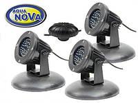 Светильник для пруда AquaNova NPL2 - LED3 (к-т 3 лампы, датчик день/ночь)