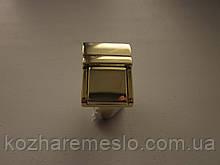 Замок клавишный, для портфеля, барсетки 20 х 27 мм золото