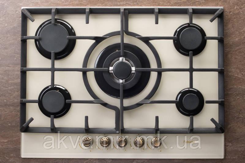 Варочная панель Fabiano FHG-R 10-55 VGH-T Cream (кремовая) газовая