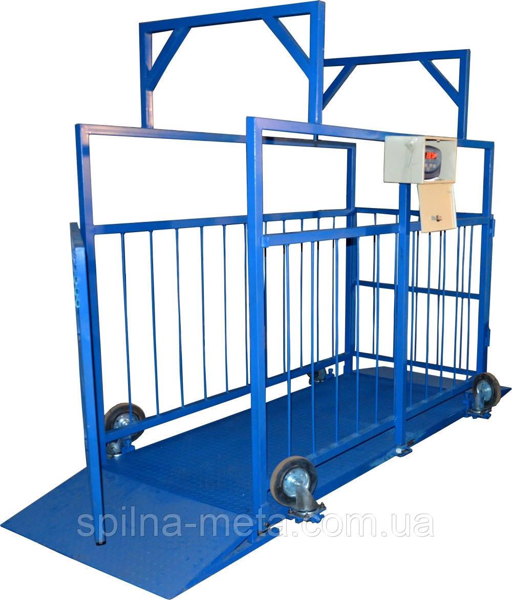 Весы для взвешивания животных до 2000 кг.