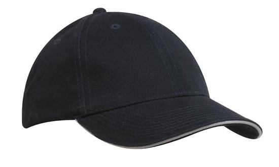 Кепка-сэндвич темно-синяя с белой полоской Headwear proffesional - 00617