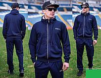Мужской однотонный спортивный трикотажный костюм Размеры: 46-48 50-52 54-56